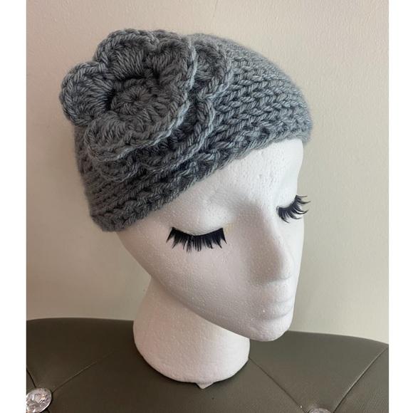 Accessories - Adorable knit flower bandeau headband